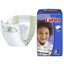 Cuties® Baby Diaper, 41+ lb Weight Capacity, Size 7