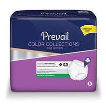 """Prevail® ColorCollections for Women Protective Underwear, XL (48"""" - 64"""" Waist)"""
