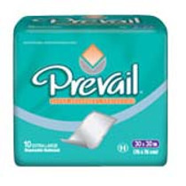 """Prevail® Night Time Disposable Underpads 23""""x 36"""""""