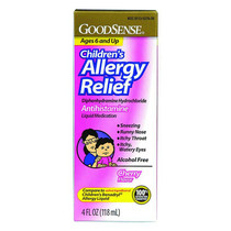 GoodSense® Children's Allergy Relief Liquid 4 oz, Cherry