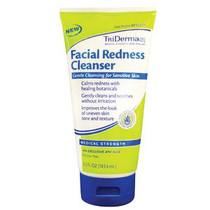 Genuine Virgin Aloe TriDerma® Facial Redness Cleanser™ Cream 6.2 oz, Non-Comedogenic, 6.2