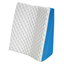 """Hermell Products Dual Position Comfort Bed Wedge 22"""" x 19"""" x 12"""" White, Poly/Cotton"""