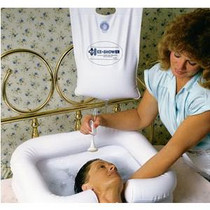 """EZ-Access EZ-Shower™ Bedside Shower 2-1/2 gal, 30"""" Hose, with On/Off Switch"""