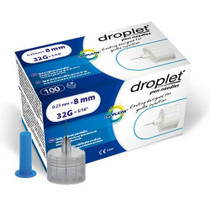 Droplet Pen Needle 32g (0.23mm) X 8mm (100 Count)