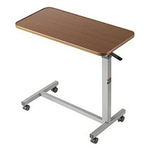 """Auto-touch Overbed Table, 30"""" X 15"""" X 3/4"""", 29"""" To 45"""""""