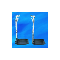 "Invacare Economy Hemi Footrest without Heel Loop Composite Footplate, 1"" to 3/8"" Hanger Pin Spacing"