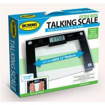 "Jobar Talking Scale 15"" L x 12"" x 1"" H Platform, 550 lb Weight Capacity, 8mm Tempered Glass"