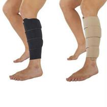 Juzo Calf Compression Wrap, 30 to 60 mmHg, Regular Length, Black and Beige Reversible