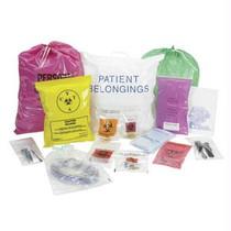 Biohazard Transport Bag With Zip Closure, 2 Ml, 6 X 9, Red