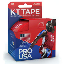 """Kt Synthetic Tape Team Usa Pro, Red, 20 2"""" X 10"""" Strips"""