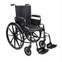 "Traveler L4 Folding Wheelchair With Swingaway Footrest, 18"" X 16"" Seat"