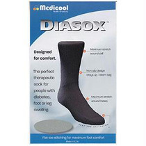 Diasox Seam-free Sock, X-large, Black