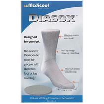 Medicool DiaSox® Diabetes Socks, White, Small