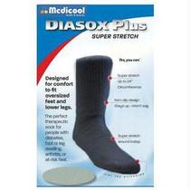 Diasox Plus Oversize Socks, X-large, Black