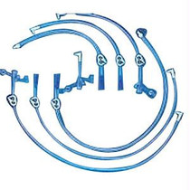 """Halyard Professional MIC-KEY Bolus Extension Set 24"""" L with Blue Catheter Tip, SECUR-LOK Right-Angle Connector and Clamp"""