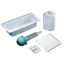 Amsino AMsure® Bulb Irrigation Tray 500cc Graduated Container, Alcohol Prep Pad, Latex-free,Sterile