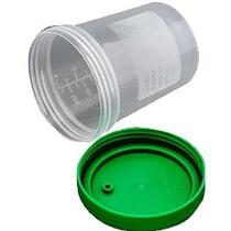 Amsino AMSure® Urine Specimen Containers with Lid, Patient Label, Individually in Poly Pouch, Sterile Interior 4 oz