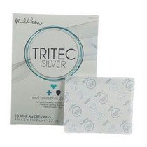 """Tritec Silver Antimicrobial Wound Dressing 4"""" X 5"""""""