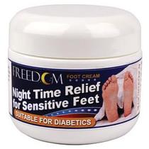 Pharma Supply Freedom Night Time Foot Cream 2 oz Tub, Night Time Relief for Sensitive Feet