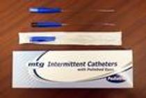 "MTG Intermittent Catheter, Straight Tip, Pediatric, Vinyl, with Handling Sleeve, 8Fr OD, 10"""