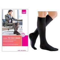 Medi Mediven® for Men Classic Compression Stocking, Calf High, 30 to 40mmHg, Standard, Closed Toe, Size 5, Black