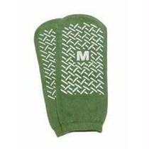 Single Tread Patient Safety Footwear With Terrycloth Exterior, 2x-large, Green