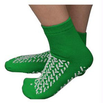 Double Tread Patient Safety Footwear With Terrycloth Exterior, 2x-large, Green