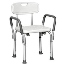 """PMI ProBasics™ Shower Chair, with Back and Padded Arms, 16"""" Seat, Seat Depth 13.5"""" 300 lb Capacity, Depth 21"""" 18.5"""""""