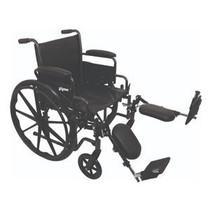 "PMI ProBasics™ K2 Standard Patient Hemi Wheelchair, with Elevating Legrests, 300 lb Capacity, 18"" Seat, Seat Depth 16"" Depth 31-1/4"""