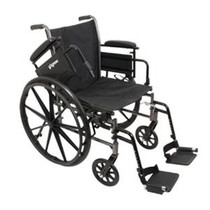 """PMI ProBasics™ K3 Patient Wheelchair, Fixed Back, with Removable Desk-Length Arms and Swing-Away Footrests, 300 lb Capacity, 18"""" x 16"""" Seat"""