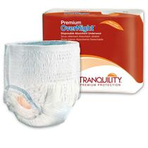 "Tranquility Premium Overnight Disposable Absorbent Underwear Medium 34"" - 48"""