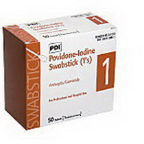 "PVP Iodine Prep 10% USP Swabstick, 4"""