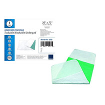 """Abena Essentials Washable Incontinence Underpad, with Tuckable Flaps, 30"""" x 72"""