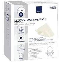 """Abena Silver Calcium Alginate Dressing, 4"""" x 4"""""""