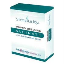"""Simpurity Silver Alginate 8"""" X 8"""" Pad"""