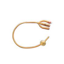Gold 3-way Silicone-coated Foley Catheter 18 Fr 5 Cc