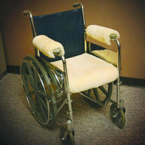 "Sofsheep Sheepskin Wheelchair Armrest Cover, Short, 9-1/2"" X 5"", Beige"