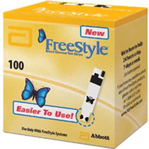FreeStyle® Blood Glucose Test Strip with Coulometry Technology, 0.3μL Small Blood Size, 15 sec Test Time, 3 Simple Steps