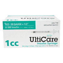 "Ulticare Insulin Syringe 30g X 1/2"", 1 Ml (100 Count)"