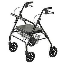 Cardinal Health™ Rollator, Heavy Duty, 400 lb Capacity, Black