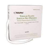 "ReliaMed Tubular Elastic Net Dressing, Size 2, 4""-5"" , .7"" flat measurement. Small"