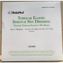 """ReliaMed® Non-Sterile Latex Tubular Elastic Stretch Net Dressing for Hands, Arms, Legs and Feet, Medium 5"""" - 6"""" x 25 yds"""