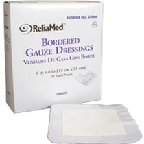 """ReliaMed® Sterile Bordered Gauze Dressing, 6"""" x 6"""""""