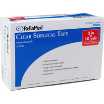 """Reliamed Clear Surgical Tape 3"""" X 10 Yds."""