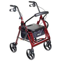"Duet Rollator/transport Chair Burgundy, 26"" X 25-1/2"" X 37"" , 8"" Casters"