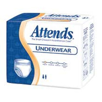 """Attends Care Underwear, Moderate-heavy Absorbency, Large, 44"""" - 58"""""""
