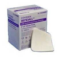 """Kendall AMD Antimicrobial Polyurethane Foam Wound Dressing, 6"""" x 6"""""""
