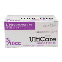 "Ulticare Insulin Syringe 30g X 1/2"", 3/10 Ml (100 Count)"