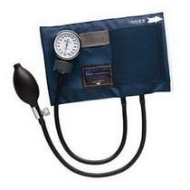 Adult Caliber Aneroid Sphygmomanometers With Blue Nylon Cuff - 01-130-011