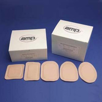 """Austin Medical AMPatch Stoma Cap 1-1/2"""" Opening, 3"""" x 4-1/4"""", Latex-free, Hypoallergenic"""